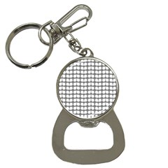 Gray And White Leaf Pattern Bottle Opener Key Chain by creativemom