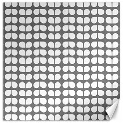 Gray And White Leaf Pattern Canvas 12  X 12  (unframed) by creativemom
