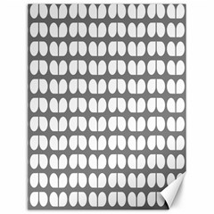 Gray And White Leaf Pattern Canvas 12  X 16  (unframed) by creativemom