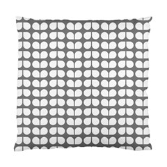 Gray And White Leaf Pattern Cushion Case (two Sided)  by creativemom