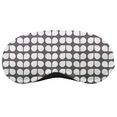 Gray And White Leaf Pattern Sleeping Mask by creativemom
