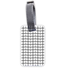 Gray And White Leaf Pattern Luggage Tag (two Sides) by creativemom