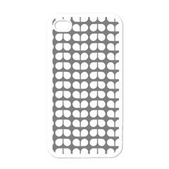 Gray And White Leaf Pattern Apple Iphone 4 Case (white) by creativemom