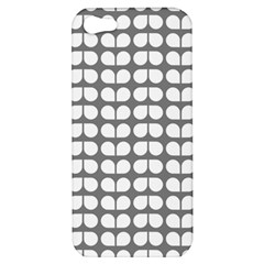 Gray And White Leaf Pattern Apple Iphone 5 Hardshell Case by creativemom