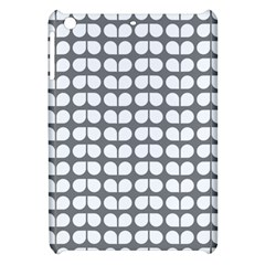 Gray And White Leaf Pattern Apple Ipad Mini Hardshell Case by creativemom