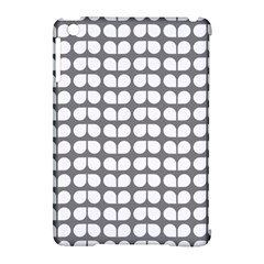 Gray And White Leaf Pattern Apple Ipad Mini Hardshell Case (compatible With Smart Cover) by creativemom