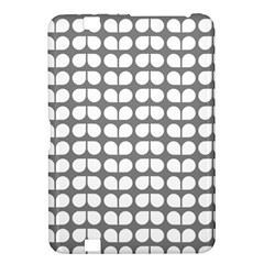 Gray And White Leaf Pattern Kindle Fire HD 8.9  Hardshell Case by creativemom