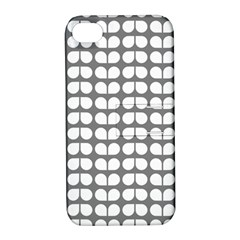Gray And White Leaf Pattern Apple Iphone 4/4s Hardshell Case With Stand by creativemom