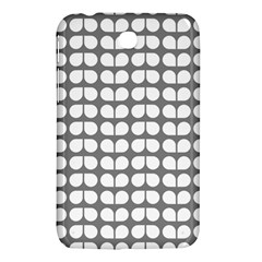 Gray And White Leaf Pattern Samsung Galaxy Tab 3 (7 ) P3200 Hardshell Case  by creativemom