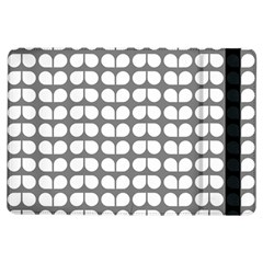 Gray And White Leaf Pattern Apple Ipad Air Flip Case by creativemom