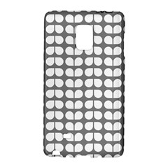 Gray And White Leaf Pattern Samsung Galaxy Note Edge Hardshell Case by creativemom