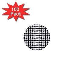 Black And White Leaf Pattern 1  Mini Button (100 Pack) by creativemom
