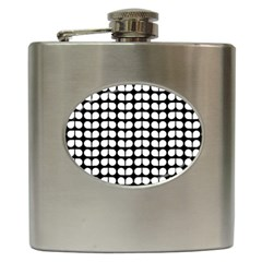 Black And White Leaf Pattern Hip Flask by creativemom