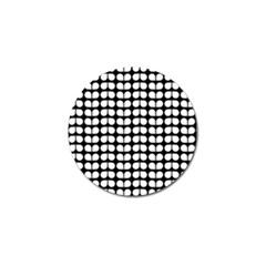 Black And White Leaf Pattern Golf Ball Marker by creativemom