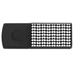 Black And White Leaf Pattern 4gb Usb Flash Drive (rectangle) by creativemom
