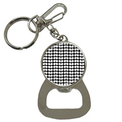 Black And White Leaf Pattern Bottle Opener Key Chain by creativemom
