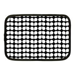Black And White Leaf Pattern Netbook Sleeve (medium) by creativemom