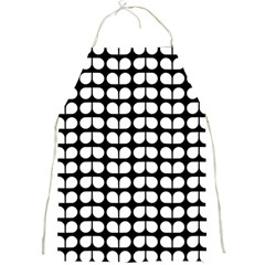 Black And White Leaf Pattern Apron by creativemom