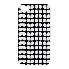 Black And White Leaf Pattern Apple Iphone 4/4s Premium Hardshell Case by creativemom