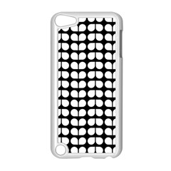 Black And White Leaf Pattern Apple Ipod Touch 5 Case (white) by creativemom