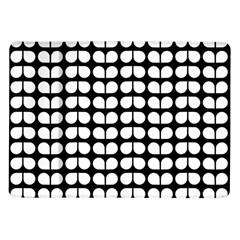 Black And White Leaf Pattern Samsung Galaxy Tab 10 1  P7500 Flip Case by creativemom