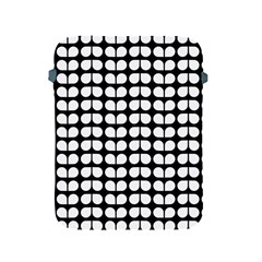 Black And White Leaf Pattern Apple Ipad Protective Sleeve by creativemom
