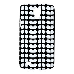 Black And White Leaf Pattern Samsung Galaxy S4 Active (i9295) Hardshell Case by creativemom