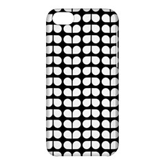 Black And White Leaf Pattern Apple Iphone 5c Hardshell Case by creativemom