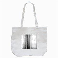 Black And White Leaf Pattern Tote Bag (white) by creativemom