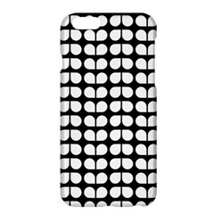 Black And White Leaf Pattern Apple Iphone 6 Plus Hardshell Case by creativemom