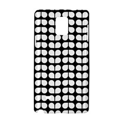 Black And White Leaf Pattern Samsung Galaxy Note 4 Hardshell Case by creativemom