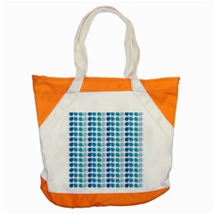 Blue Green Leaf Pattern Accent Tote Bag by creativemom