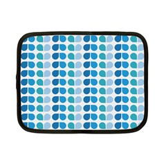 Blue Green Leaf Pattern Netbook Sleeve (small) by creativemom
