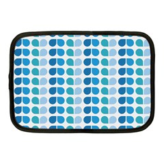 Blue Green Leaf Pattern Netbook Sleeve (medium) by creativemom