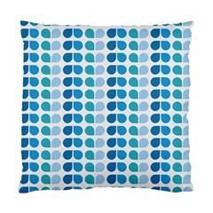 Blue Green Leaf Pattern Cushion Case (two Sided)  by creativemom