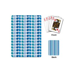 Blue Green Leaf Pattern Playing Cards (mini) by creativemom