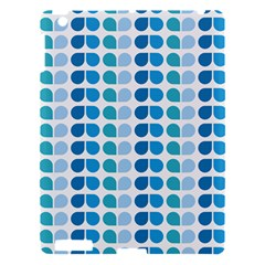 Blue Green Leaf Pattern Apple Ipad 3/4 Hardshell Case by creativemom