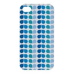 Blue Green Leaf Pattern Apple Iphone 4/4s Premium Hardshell Case by creativemom