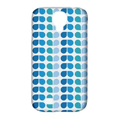 Blue Green Leaf Pattern Samsung Galaxy S4 Classic Hardshell Case (pc+silicone) by creativemom