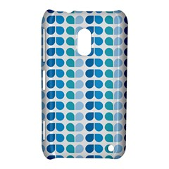 Blue Green Leaf Pattern Nokia Lumia 620 Hardshell Case by creativemom