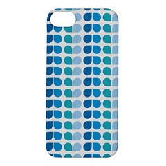 Blue Green Leaf Pattern Apple Iphone 5s Hardshell Case by creativemom