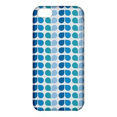Blue Green Leaf Pattern Apple Iphone 5c Hardshell Case by creativemom