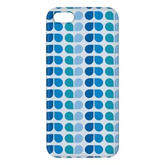 Blue Green Leaf Pattern Iphone 5s Premium Hardshell Case by creativemom
