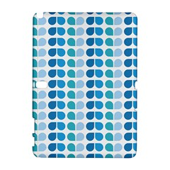Blue Green Leaf Pattern Samsung Galaxy Note 10 1 (p600) Hardshell Case by creativemom