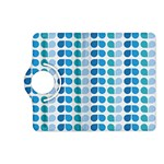 Blue Green Leaf Pattern Kindle Fire HD (2013) Flip 360 Case Front