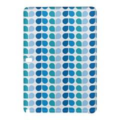 Blue Green Leaf Pattern Samsung Galaxy Tab Pro 10 1 Hardshell Case by creativemom