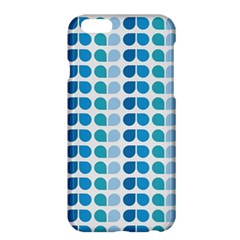 Blue Green Leaf Pattern Apple Iphone 6 Plus Hardshell Case by creativemom