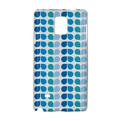 Blue Green Leaf Pattern Samsung Galaxy Note 4 Hardshell Case