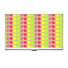 Colorful Leaf Pattern Business Card Holder by creativemom