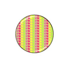 Colorful Leaf Pattern Golf Ball Marker (for Hat Clip) by creativemom